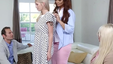 New foment parents Syren De Mer and Calvin Hardy surprised their pioneering teen dauther Megan Holly with respect to a 3some session.