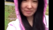 Asian Teen publicly uncovers herself up a difficulty rain!